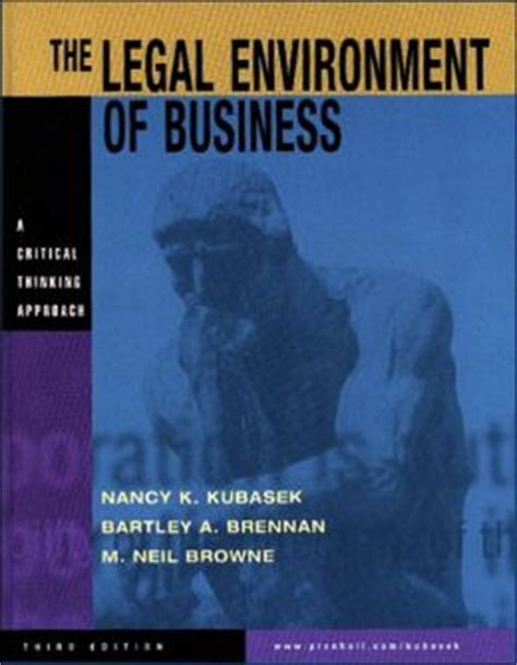 The Legal Environment Of Business A Critical Thinking Approach 8th Edition