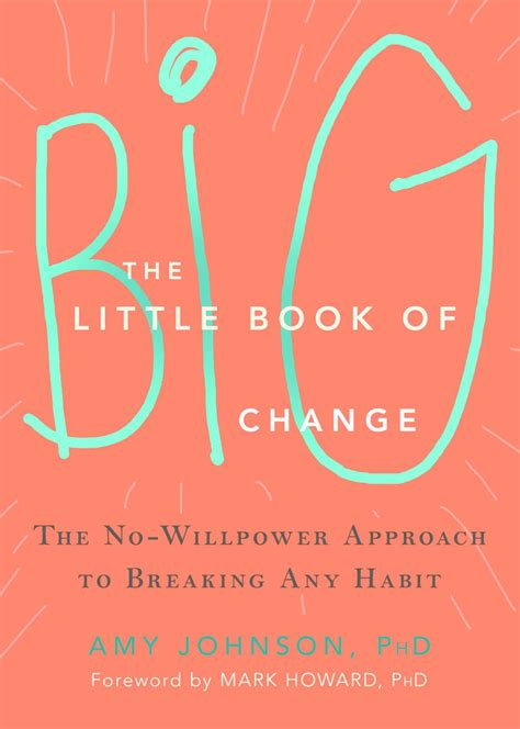 The Little Book Of Big Change The NoWillpower Approach To Breaking Any Habit