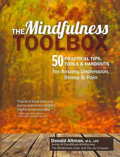 The Mindfulness Toolbox 50 Practical Tips Tools Handouts For Anxiety Depression Stress Pain