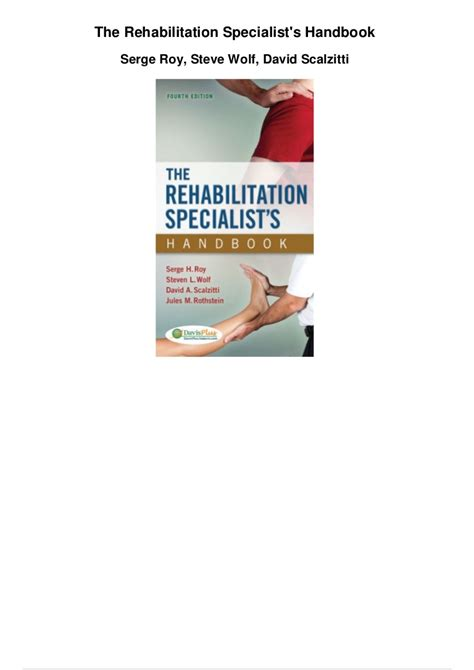 The Rehabilitation Specialists Handbook