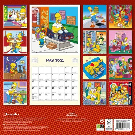 The Simpsons Official 2019 Calendar Square Wall Calendar Format