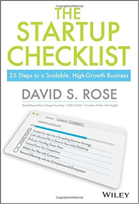 The Startup Checklist 25 Steps To A Scalable Highgrowth Business