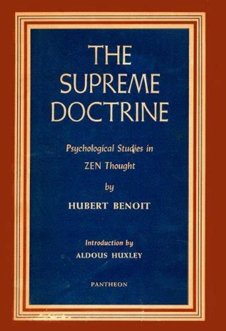 The Supreme Doctrine Psychological Studies In Zen Thought