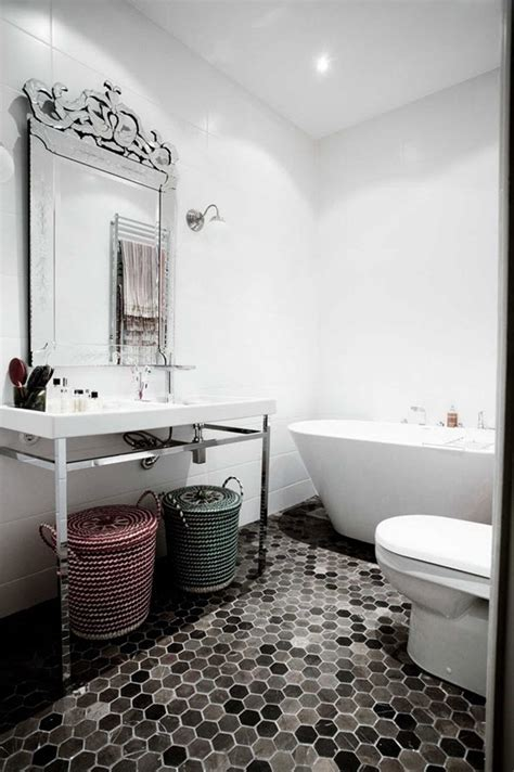 Tile Designs For Bathrooms Black and White The Spruce