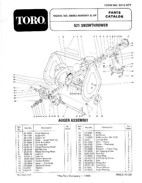 Toro 521 Snowblower Manual (ePUB/PDF)