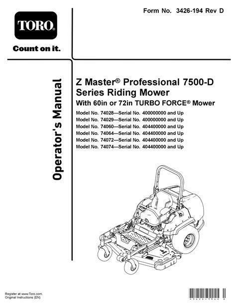 Toro Z150 Manual (Free ePUB/PDF)