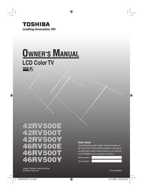 Toshiba Regza Repair Manual (ePUB/PDF) Free