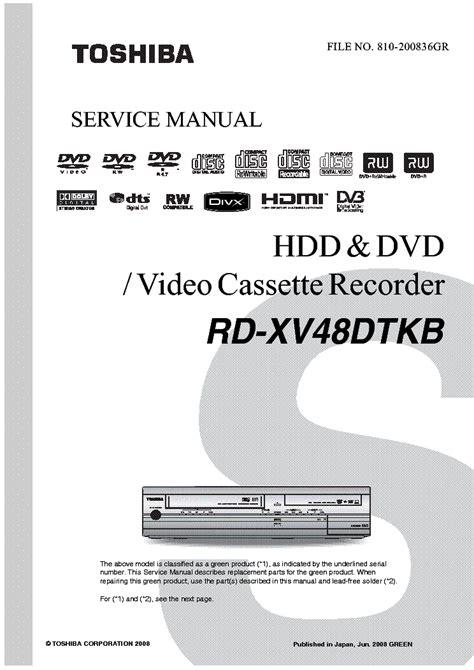 Toshiba Xv48dt Manual (ePUB/PDF)