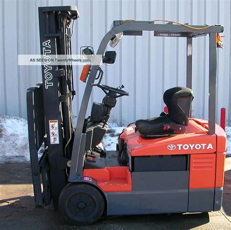 Toyota 7fbeu15 20 7fbehu18 Electric Powered Forklift Service ...