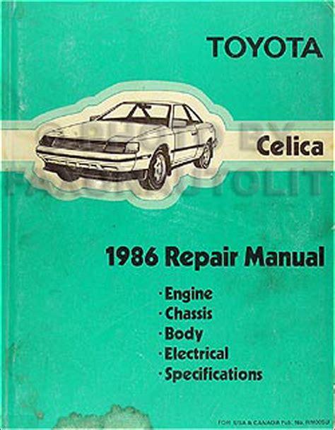 Toyota Celica 1991 Service Manual (ePUB/PDF) Free