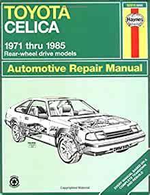 Toyota Celica Repair Manual Free (ePUB/PDF)