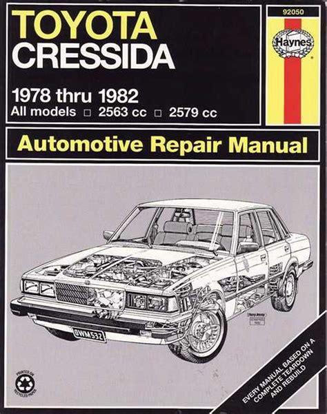 Toyota Cressida Workshop Service Manual (ePUB/PDF) Free