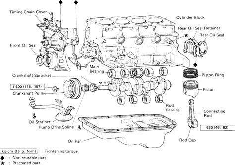 toyota engine parts diagram 2 5