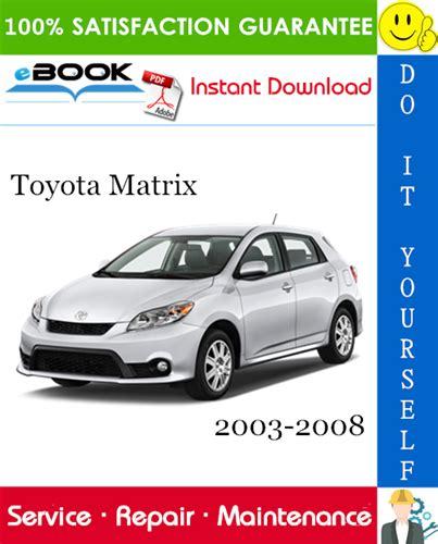 toyota matrix service manual
