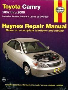 Toyota Solara Owners Manual (ePUB/PDF) Free