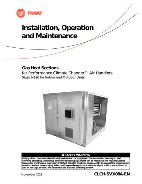 Trane Air Handler Manual (ePUB/PDF)