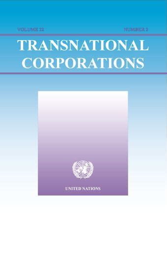 Transnational Corporations And International Production Concepts Theories And Effects