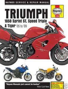Triumph Tiger 1050 Haynes Manual (ePUB/PDF) Free