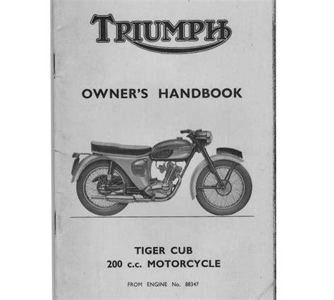 Triumph Tiger Owners Manual (ePUB/PDF) Free