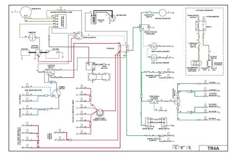 triumph tr4a wiring diagram