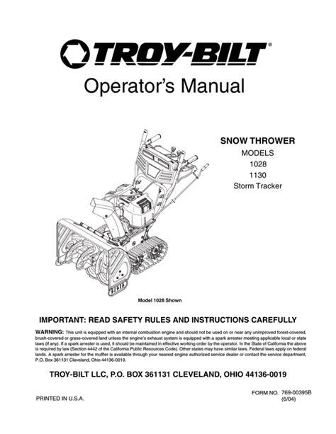 Troy Bilt Blower Manual (ePUB/PDF) Free