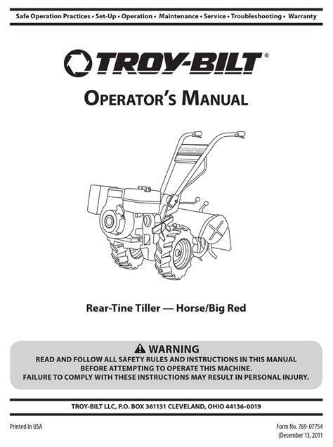 Troy Bilt Horse Repair Manual (ePUB/PDF)