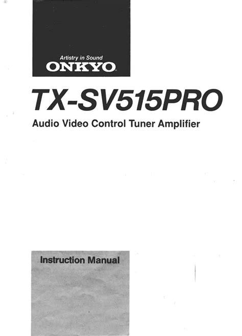 Tx Sv515pro Manual (ePUB/PDF) Free