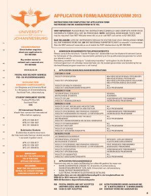 Uj Nsfas Application Form 2015 (ePUB/PDF) Free