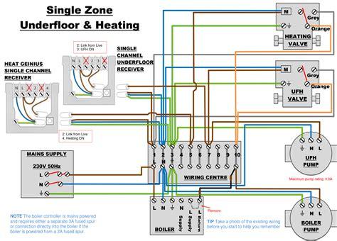 underfloor heating wiring diagram s plan