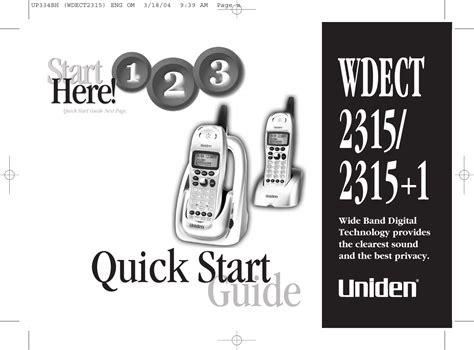Uniden 2315 Manual (ePUB/PDF)