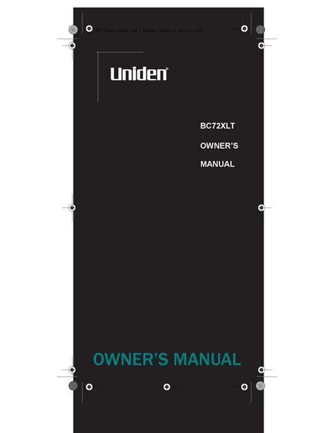 Uniden Bc72xlt Manual (ePUB/PDF) Free