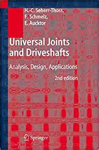 Universal Joints And Driveshafts Analysis Design