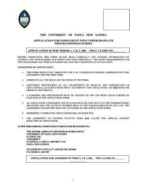 Upng 2015 Application Form (ePUB/PDF)