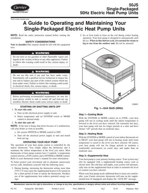 User Manual Carrier Heat Pump (ePUB/PDF)