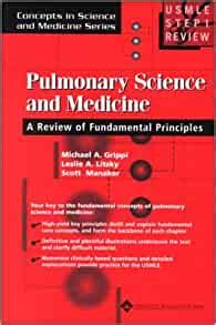 Usmle Step 1 Review Pulmonary Science Medicine Concepts In Science And Medicine Series