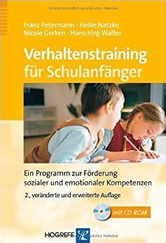Verhaltenstraining Fur Schulanfanger Ein Programm Zur Forderung ...