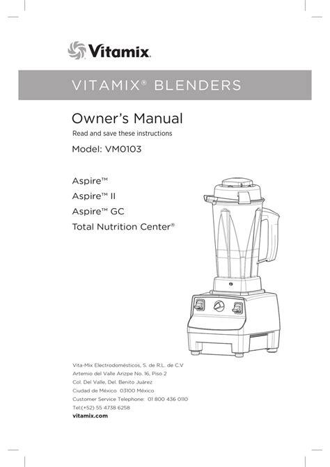 Vitamix Vm0103 Manual (ePUB/PDF)