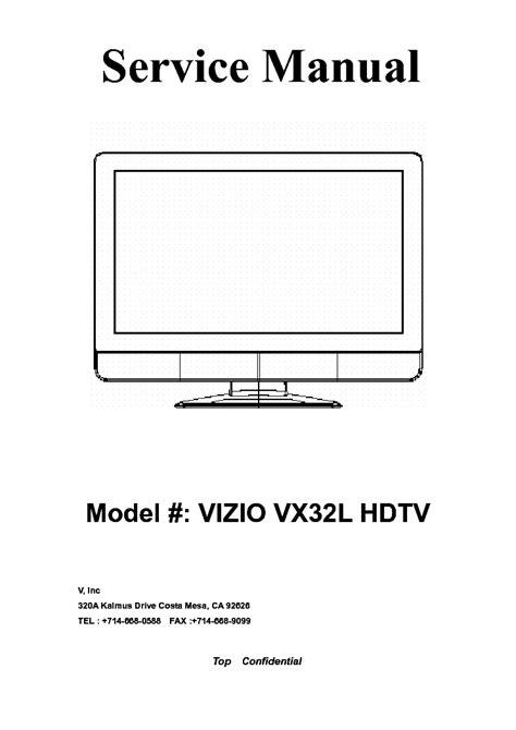 Vizio Vx32l Hdtv Manual (ePUB/PDF) Free