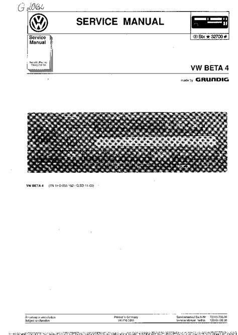 Astounding Volkswagen Beta Manual Epub Pdf Wiring Cloud Hisonuggs Outletorg