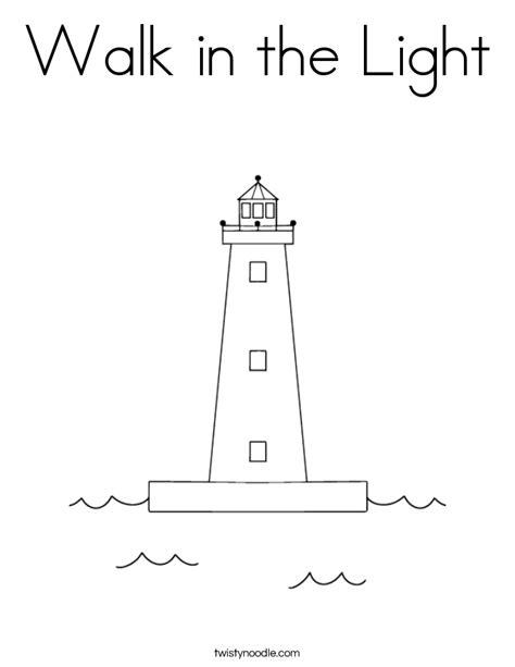 Walk In The Light Coloring Sheet (ePUB/PDF) Free