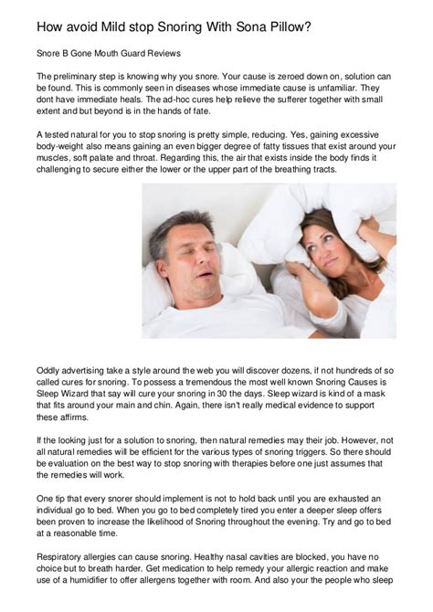 Ways To Stop Snoring Permanently English Edition