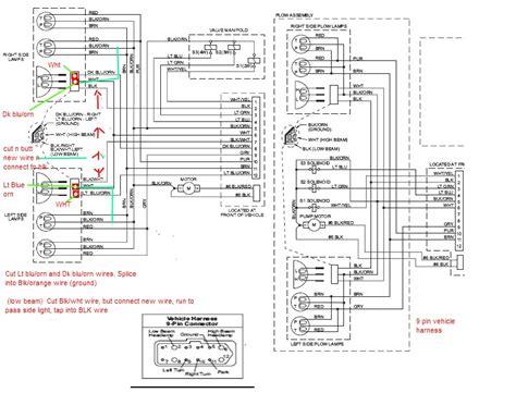 western plows wiring diagram 9 pin