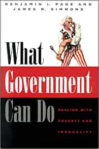 What Government Can Do Dealing With Poverty And Inequality American Politics And Political Economy Series