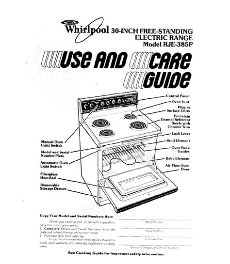 Whirlpool Stove User Manual (ePUB/PDF) Free