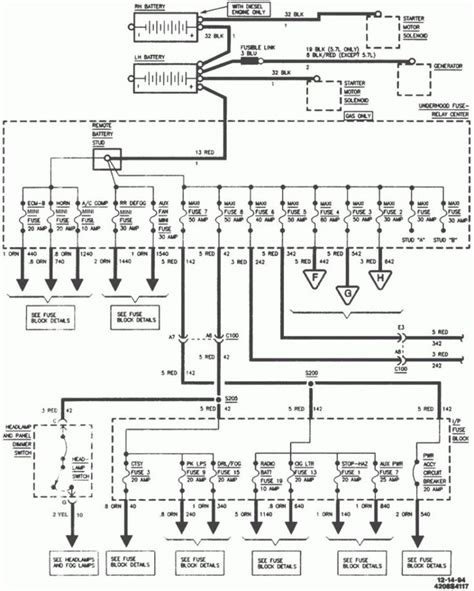 wiring diagram for 1995 chevy suburban