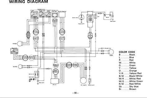 Wiring Diagrams For A Yamaha 4 Moto 250 on honda 350 4 wheeler wiring, 2007 yamaha motorcycle ignition wiring, yamaha 225 three wheeler parts wiring,
