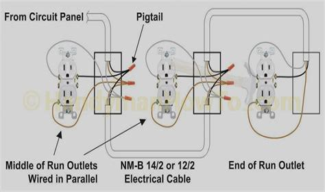 wiring receptacles in parallel diagram