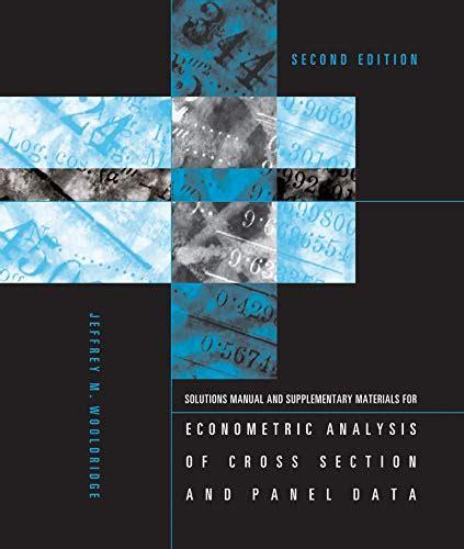 Wooldridge Panel Data Solutions Manual (ePUB/PDF) Free