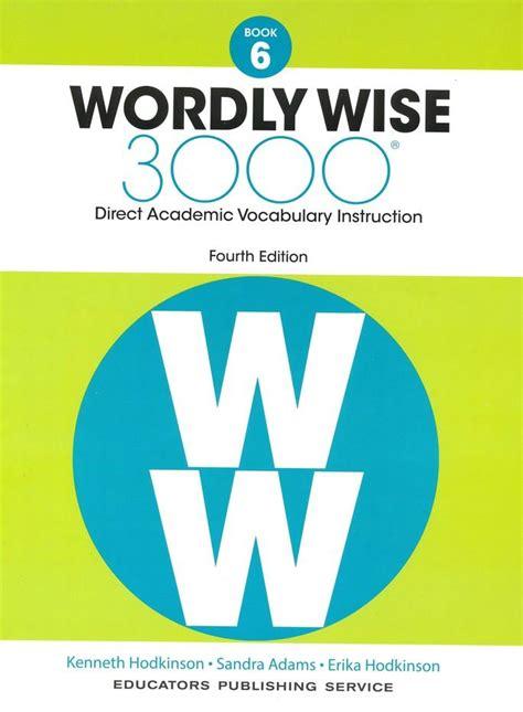 Wordly Wise 6 Answer (ePUB/PDF)