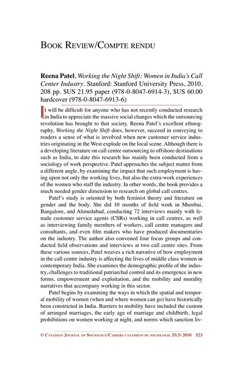 Working The Night Shift Women In Indias Call Center Industry